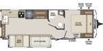 2020 Keystone Bullet (East) 258RKS Floorplan