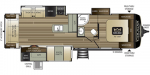 2021 Keystone Cougar Half-Ton (West) 29RLKWE Floorplan