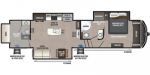 2020 Keystone Montana High Country 335BH Floorplan