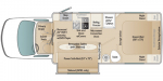 2021 Coach House Platinum II 241XL SQ Floorplan