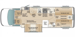 2021 Coach House Platinum 271XL FD Floorplan