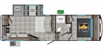 2021 CrossRoads Cruiser Aire CR27MK Floorplan
