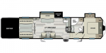 2021 Forest River Shockwave 34FWG DX Floorplan