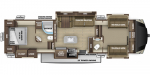 2021 Highland Ridge Mesa Ridge MF376FBH Floorplan