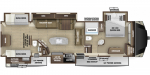 2021 Highland Ridge Mesa Ridge MF427BHS Floorplan