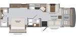 2021 Holiday Rambler Admiral 32S Floorplan