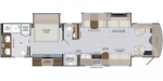 2021 Holiday Rambler Armada 40M Floorplan