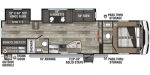 2021 KZ Sportsmen Fifth Wheel 302BHK Floorplan
