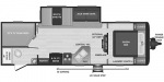 2021 Keystone Hideout (Travel Trailer - West) 26BHWE Floorplan