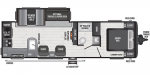 2021 Keystone Hideout (Travel Trailer - West) 28RKSWE Floorplan